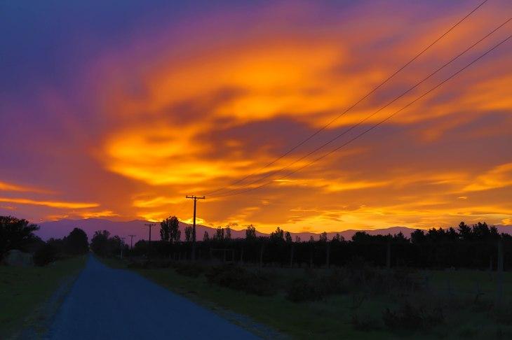 The last night sunset