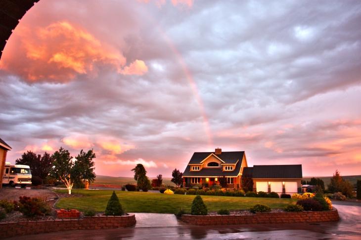 Rainbow over pat